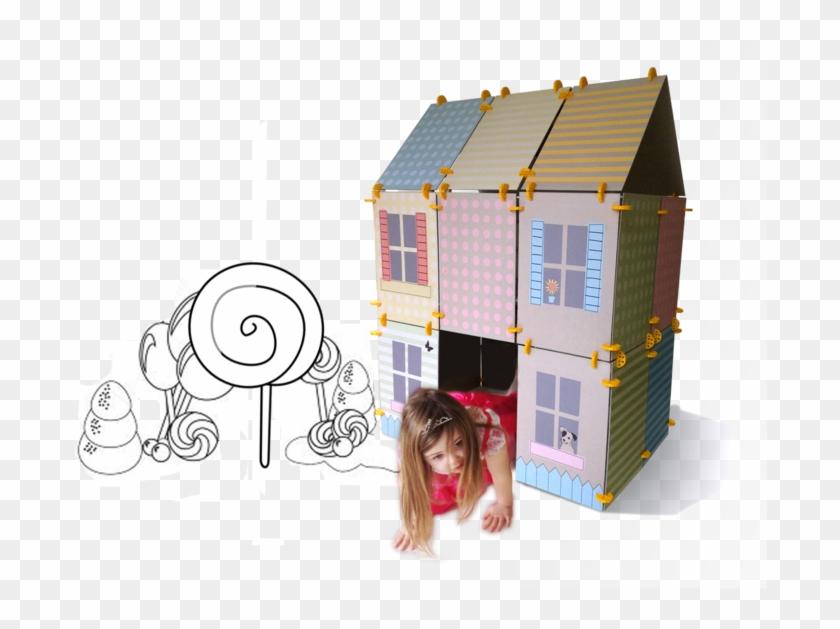 House Construction Clip Art : Play house construction kit for kids cardboard building kit