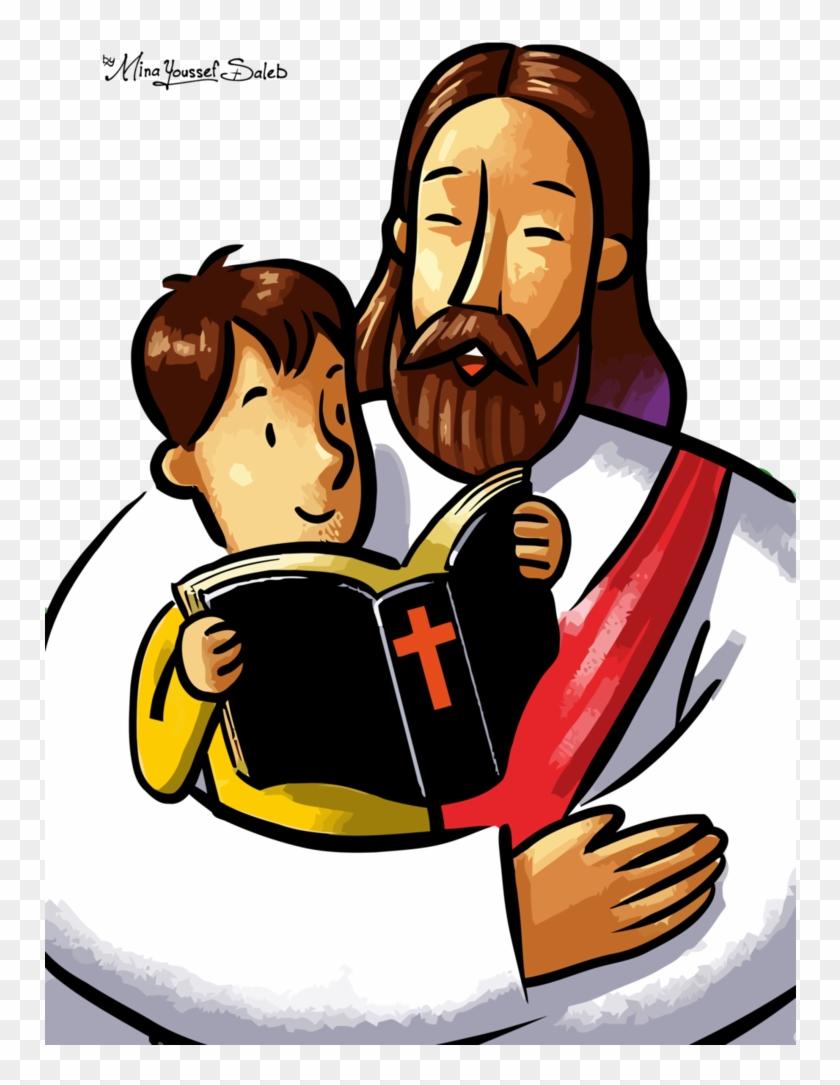 Jesus Vector82 By Minayoussefsaleb - Jesus And Children Vector #747398