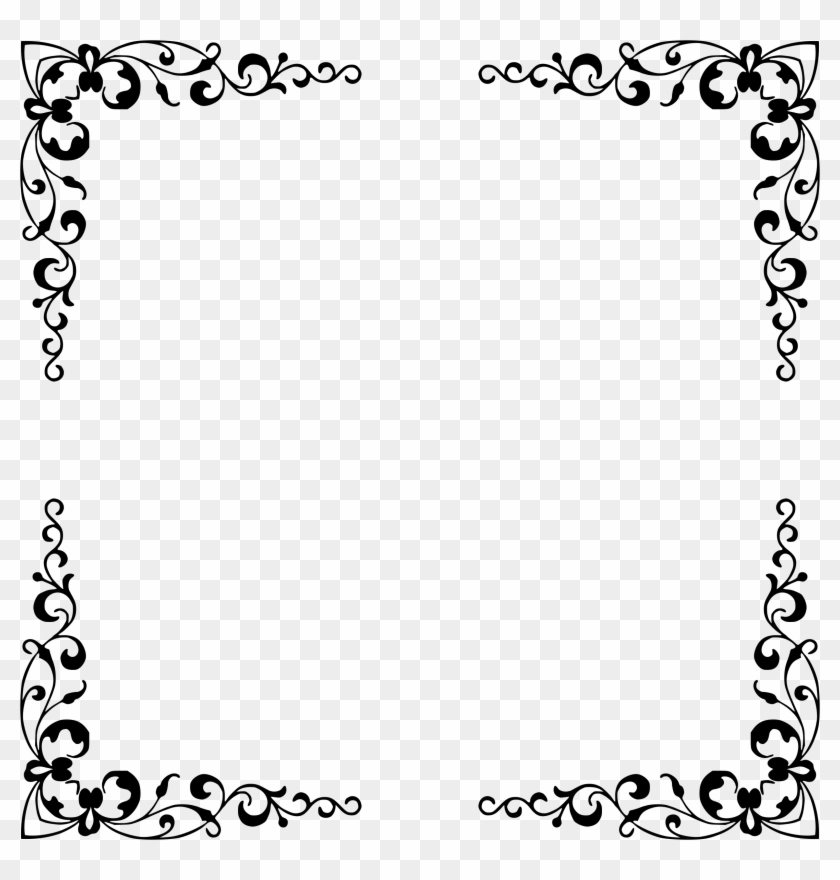 Big Image - Elegant Frame Black And White - Free Transparent PNG ...