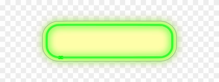 Green Light Neon 2 Clip Art At Clker - Neon Light Vector Png