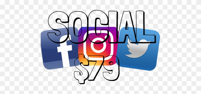Let Us Handle Your Social Media Accounts, For A Great - Instagram Facebook Twitter Icons #749072