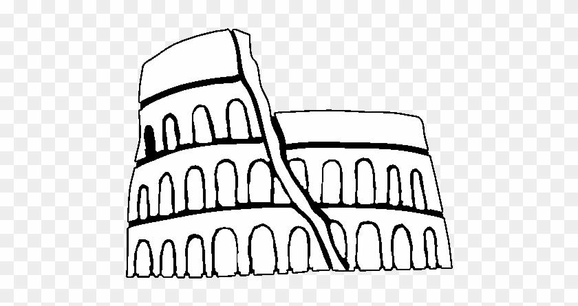 Roman Colosseum Coloring Page - Dibujos De Grecia Y Roma Para Colorear #749612