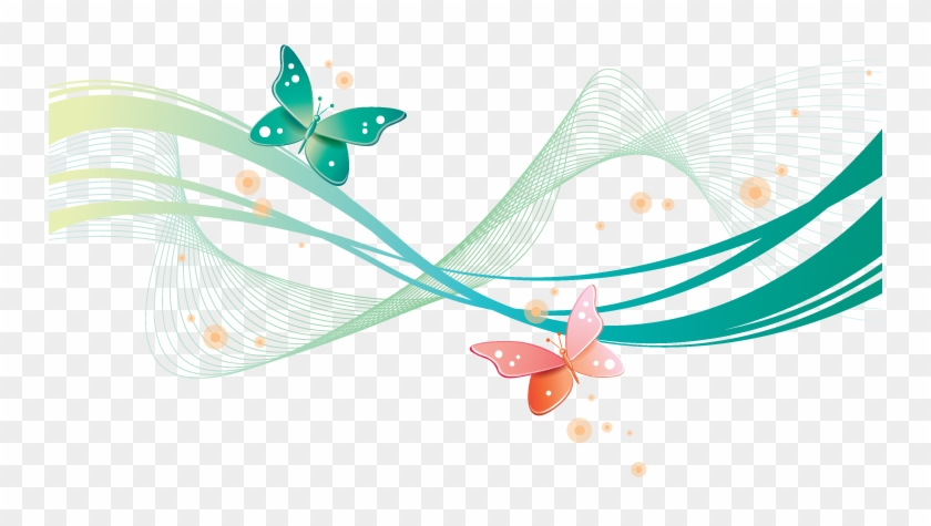 Photoshop Frames Wallpapers Designs - Butterfly Clip Art #751497