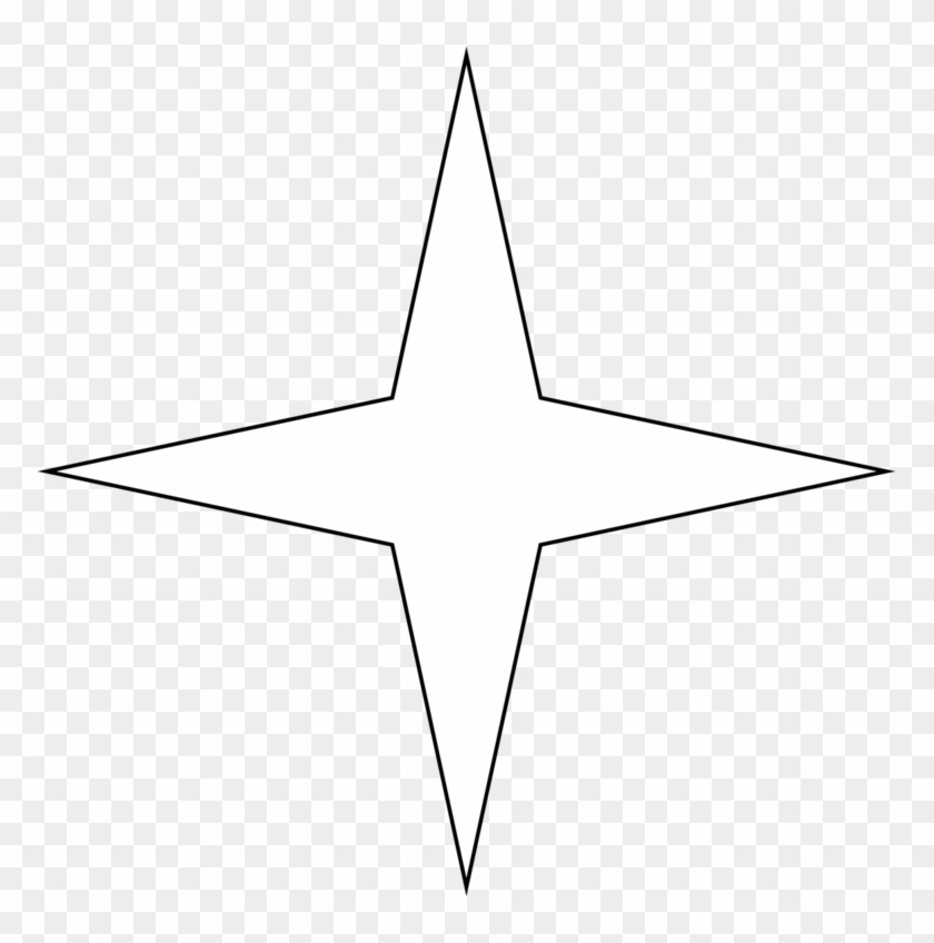 Star Templates | Star Templates Dessin Etoile 4 Branches Free Transparent