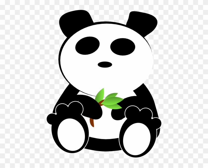 Bamboo Eating Cosmic Panda Clip Art