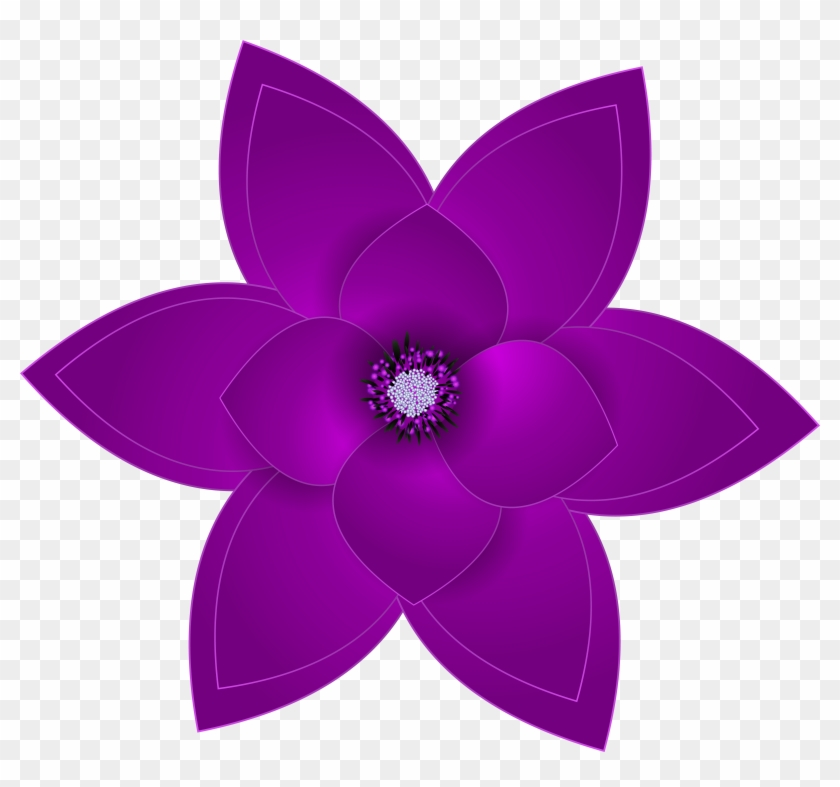 0 Draw A Purple Flower Free Transparent Png Clipart Images