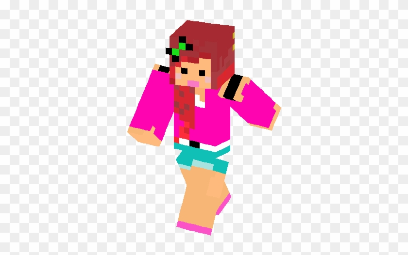 Cute Girl With Red Hair Skin Minecraft Skin Girls With Pink Hair Hd Free Transparent Png Clipart Images Download