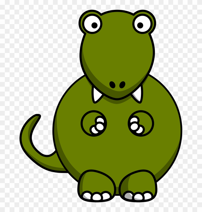 Dino Dig Clipart Of Luis, Action Clipart And Availability - Cartoon Tyrannosaurus Rex Dinosaur Shower Curtain #753492