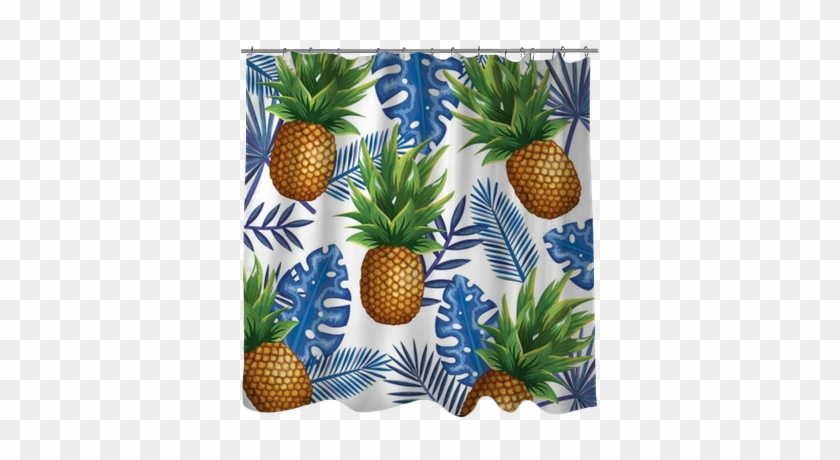 Tropical Garden With Pineapple Vector Illustration - Pineapple #753740