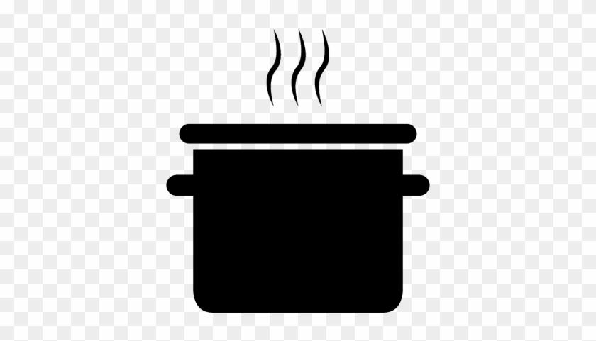 Cooking Pot Vector - Cooking Pot Clipart Transparent #754333