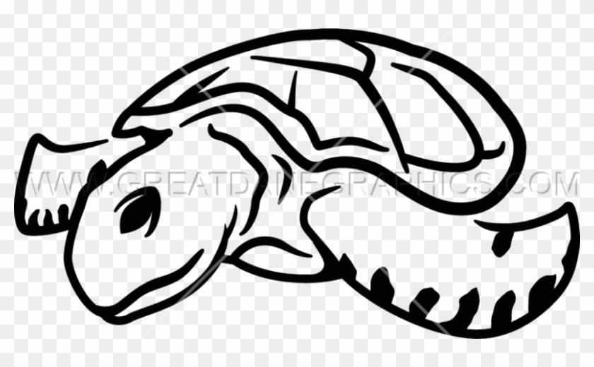 Pin Sea Turtle Clipart Black And White - Sea Turtle #755740