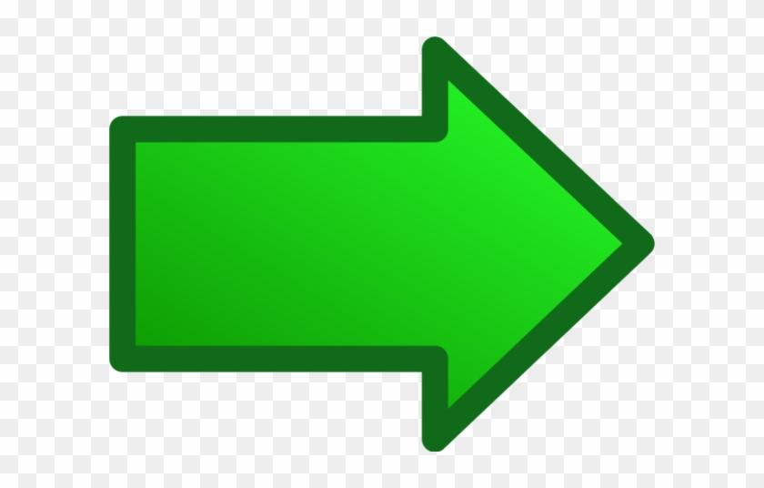 Arrow Right Vector Clip Art - Green Right Arrow Png #756140
