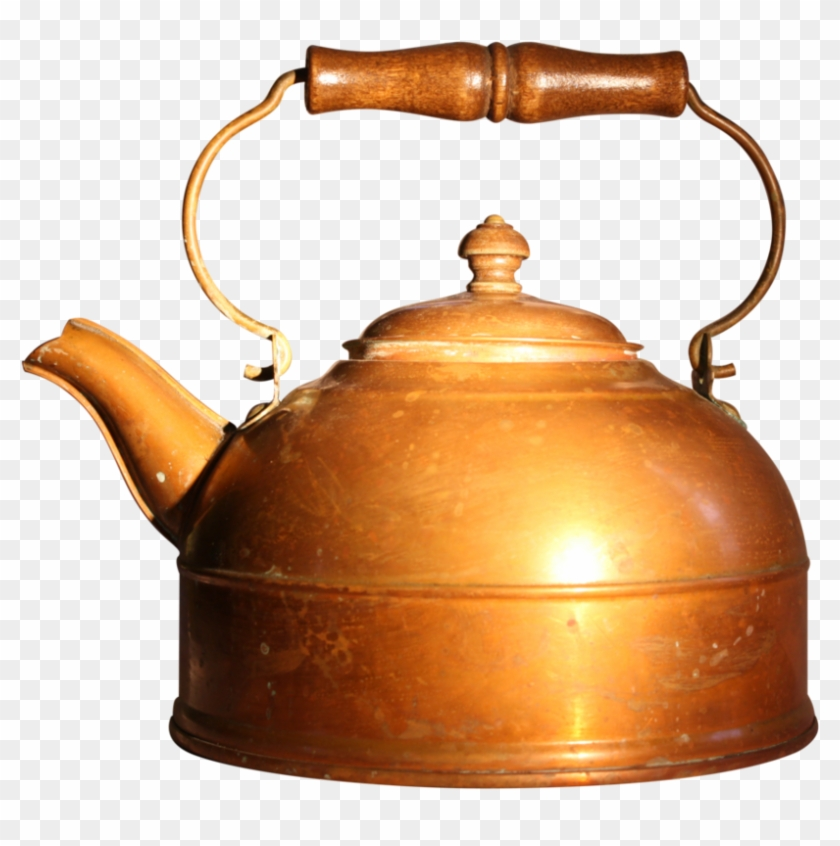 Old Copper Tea Kettle- Stock By Bellafreestock - Coffeemaker #756899
