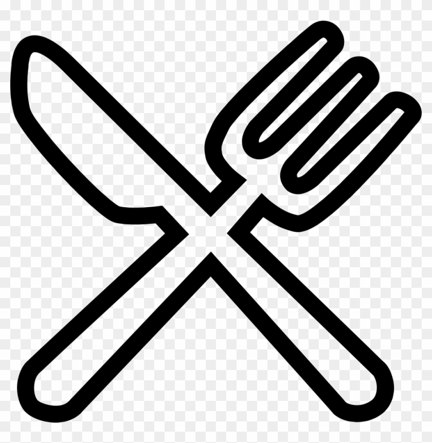 Western Food Comments - Knife And Fork Icon White #757938