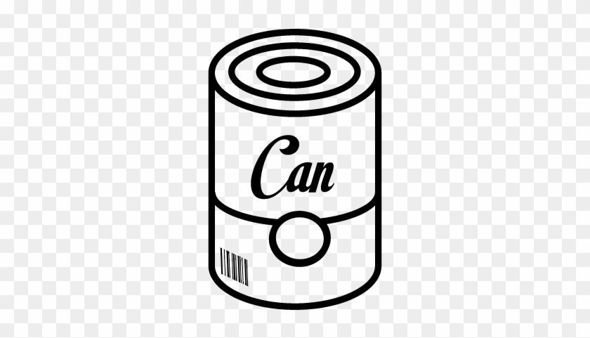 Can Of Food With Barcode Vector - Boite De Conserve Dessin