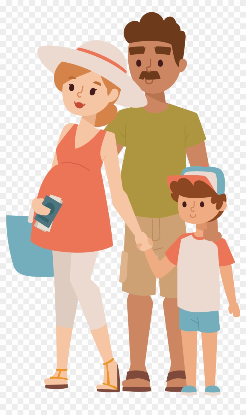 Travel Family Vacation Illustration Father And Son Cartoon Free Transparent Png Clipart Images Download