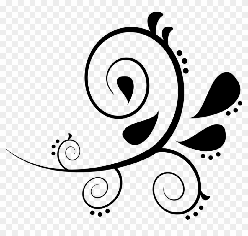 Flourish Clip Art At Clker Com Vector Clip Art Online - Free Paisley Clip Art #760187