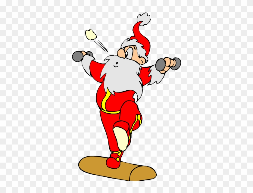 Give The Gift Of Health For Christmas Real Help For - Santa Claus Working Out #760389