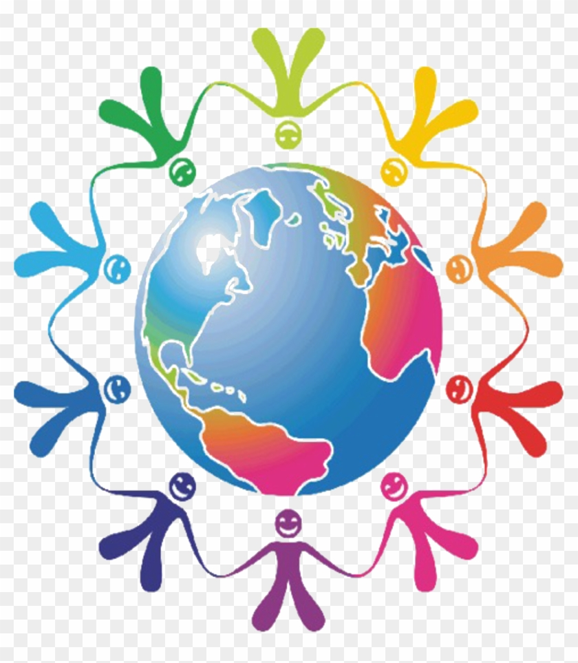 Peace Week 2015 Logo - People Holding Hands Around The World Gif #760843