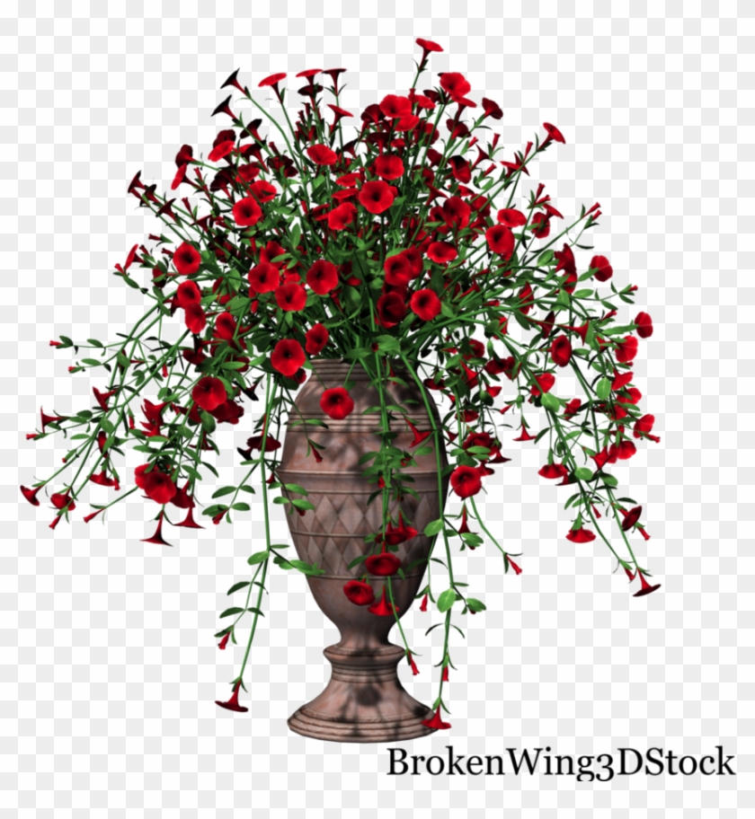 Potted Petunia Red01 By Brokenwing3dstock Wedding Flowers In Vases