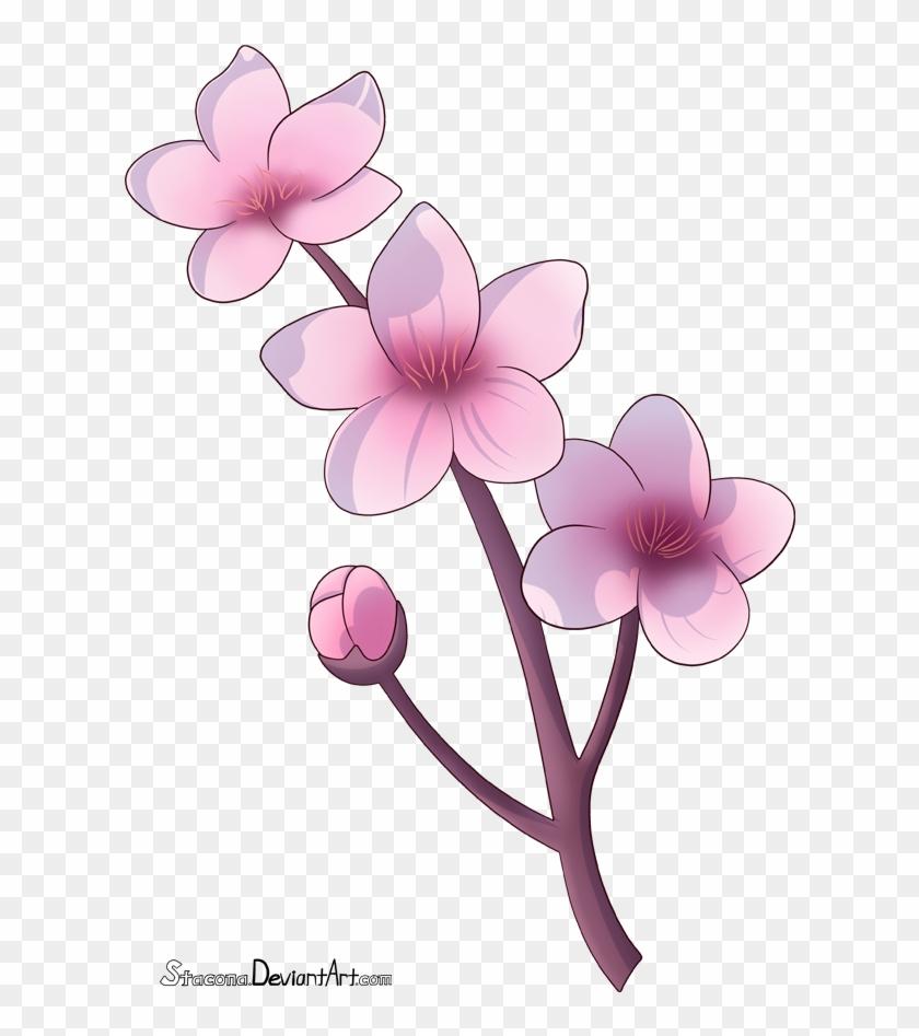 Cherry Blossom Branch By Stacona - Chibi Cherry Blossom Flowers #762424