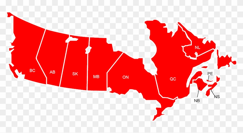 Map Of Canada Red.Red Canada Map Free Transparent Png Clipart Images Download
