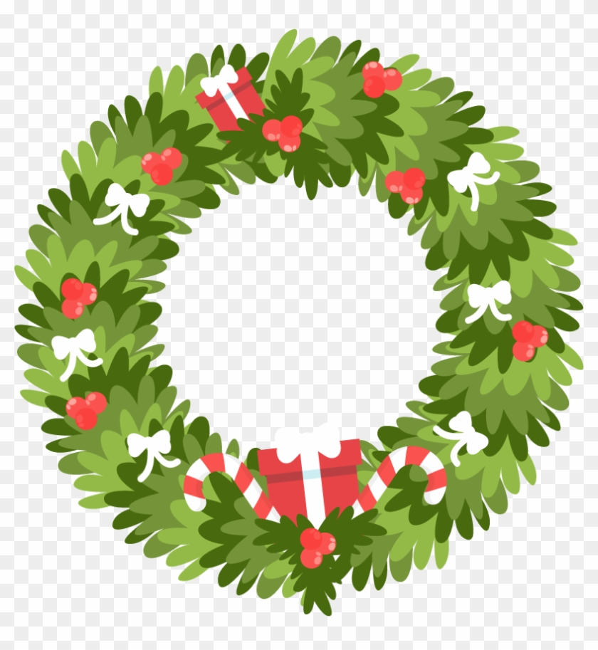 Candy Clipart Garland Christmas Wreath Icon Free Transparent Png