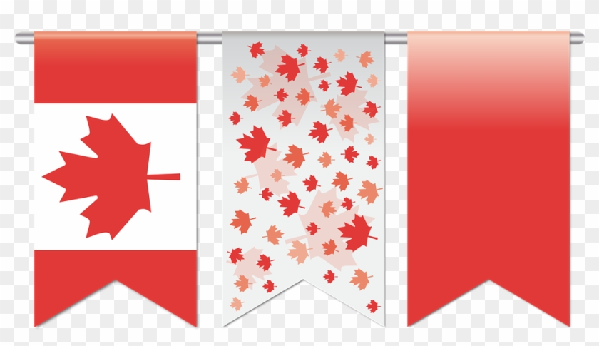 Maple Leaf Canada White 12, Buy Clip Art - Canada Flag Banner Png #763509