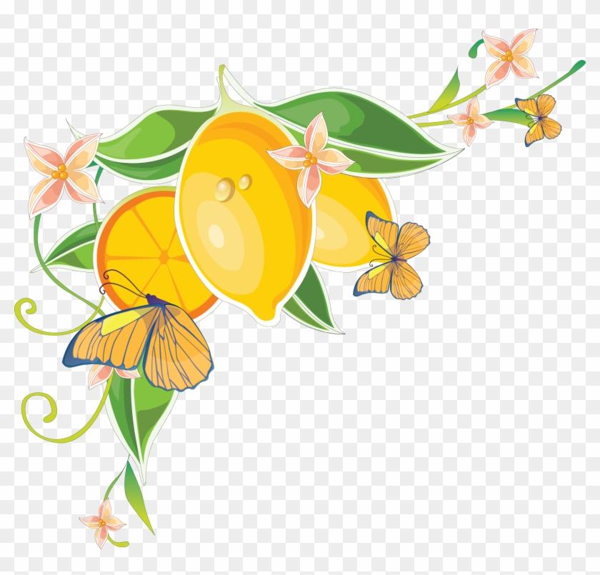 Png水果花朵蝴蝶花边,20p - 图片素材交流 - 思缘论坛 平面 - Flower Wall Mural - Bright Yellow #763557