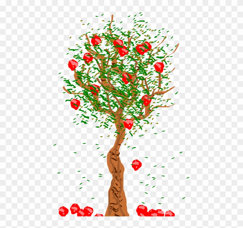 Clipart - Apple Tree - Apples Falling From Tree #763824