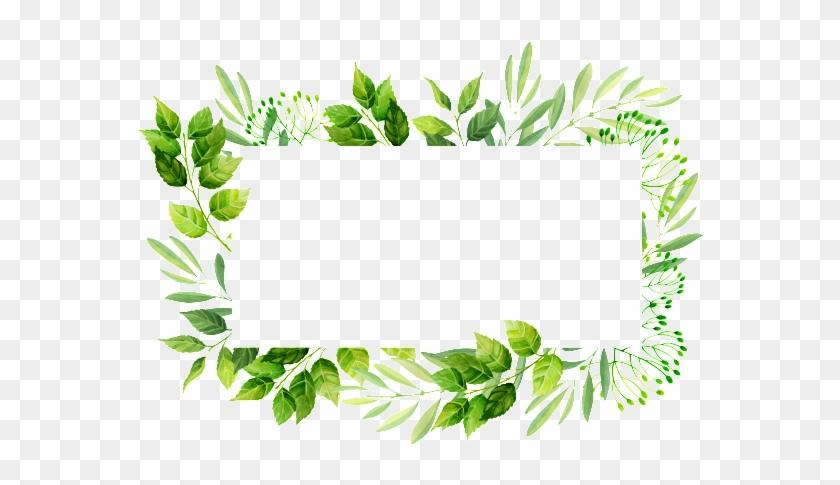Rectangular Leaf Frame Png Transparent Material - Wedding Leaves Border #763870