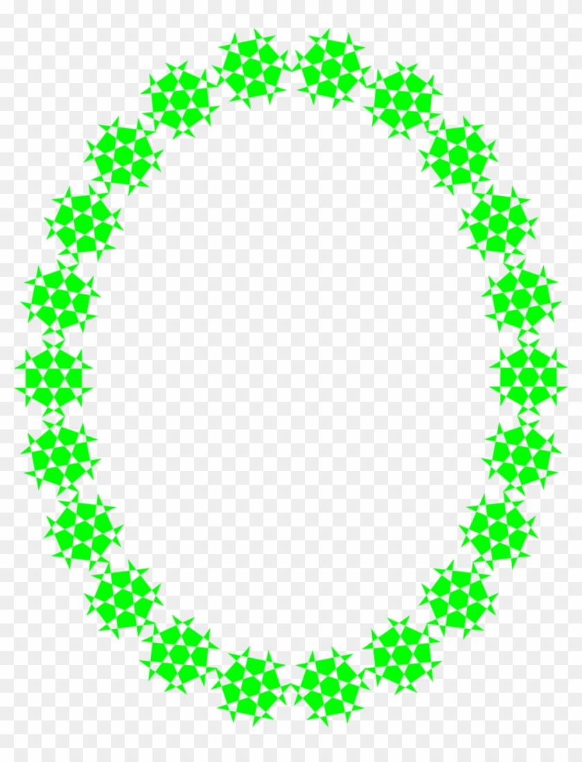 Illustration Of A Blank Frame Border Of Green Shapes - Happy Mothers Day Aunt #764086