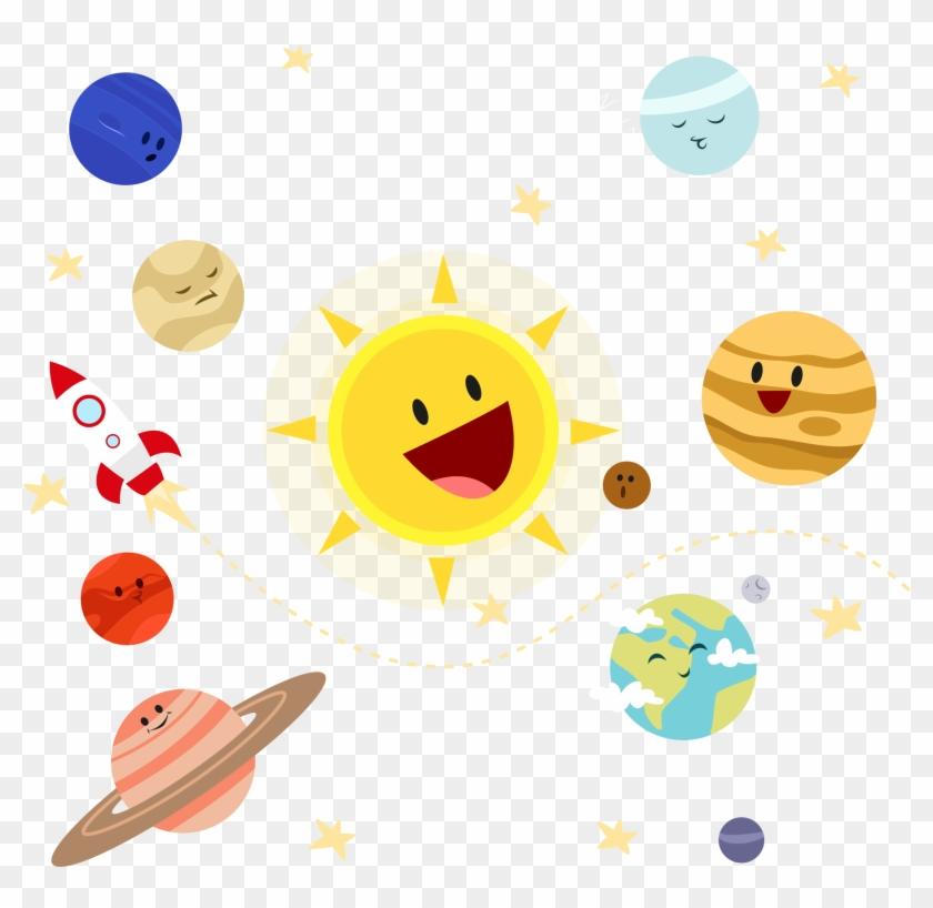 Earth Solar System Planet Illustration - Planet Illustration Png #764287