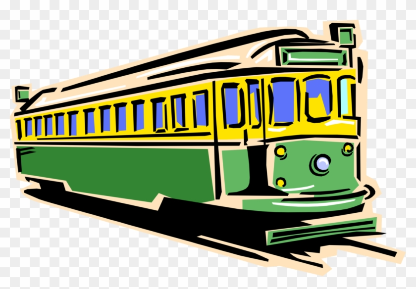 vector illustration of electric streetcar tram trolley train clip rh clipartmax com trolley clipart free trolley clipart car