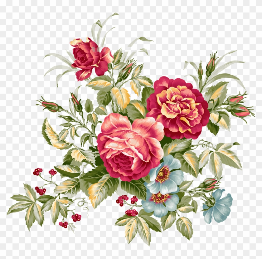 Floral Design Flower Bouquet Vintage Clothing Clip - Flower Vintage Png #768060