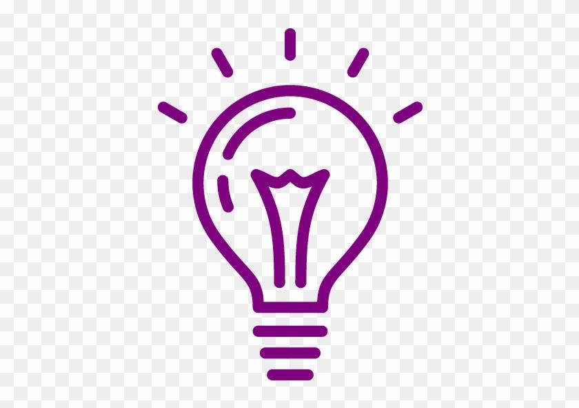 Blue Light Bulb Icon #768222
