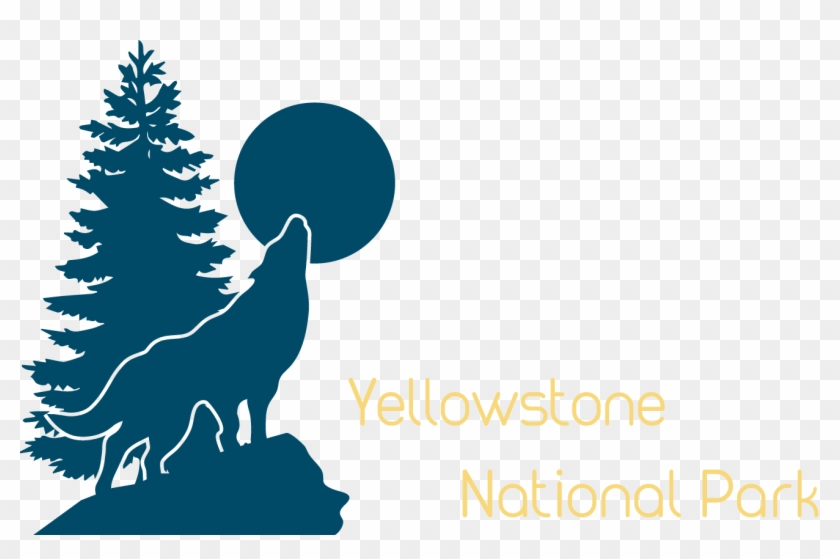 Welcome To Yellowstone - Evergreen Tree Silhouette Png #768363