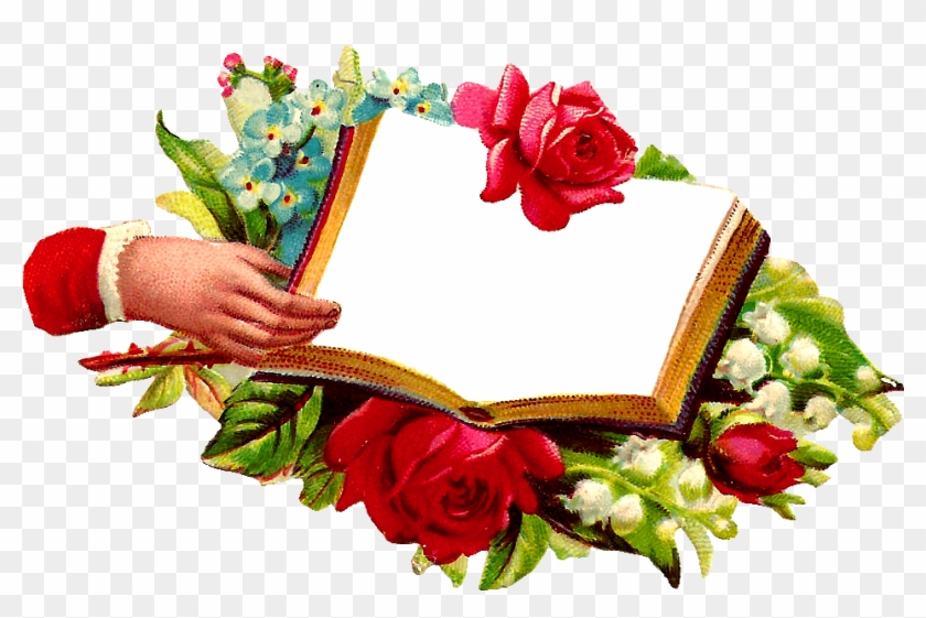 These Are Wonderful Digital Graphics I Created From - Png Open Book And Flower #768541