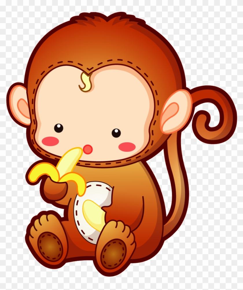 Dibujos Tiernos Png - Baby Monkey Cute Cartoon #768640