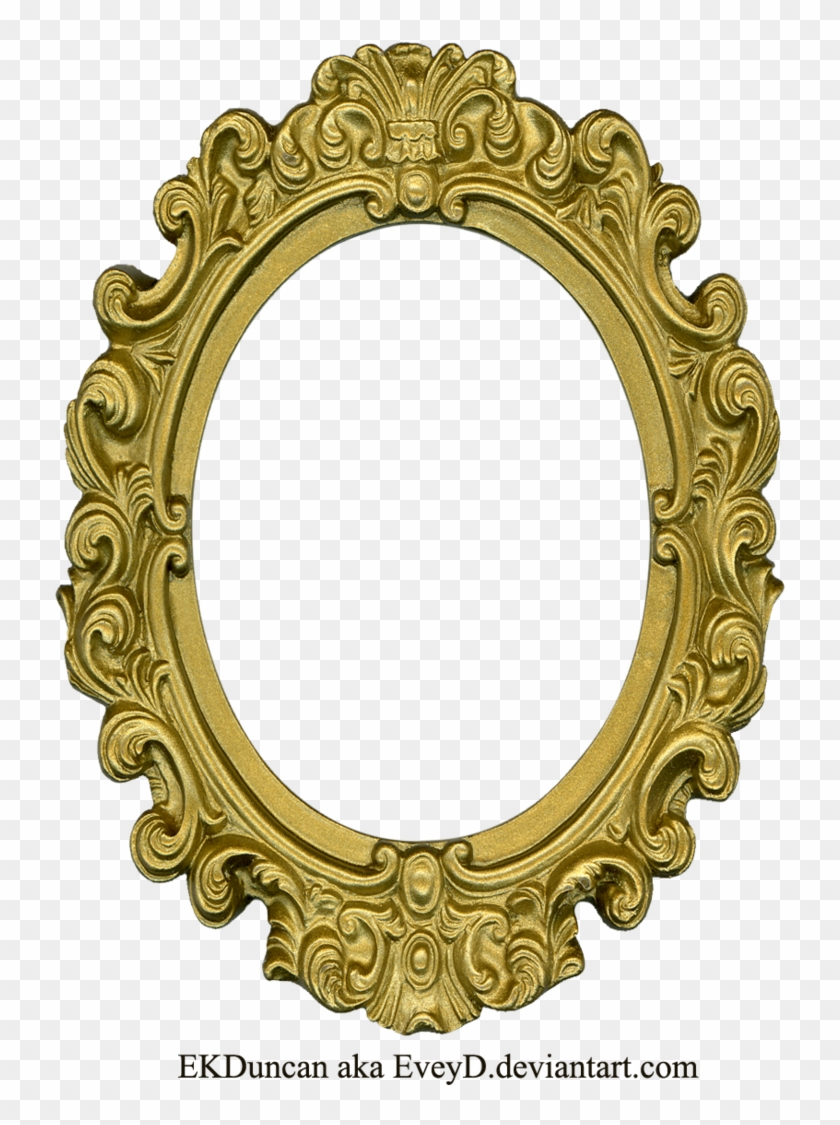 Ornate Gold Frame - Old Round Frame #768783
