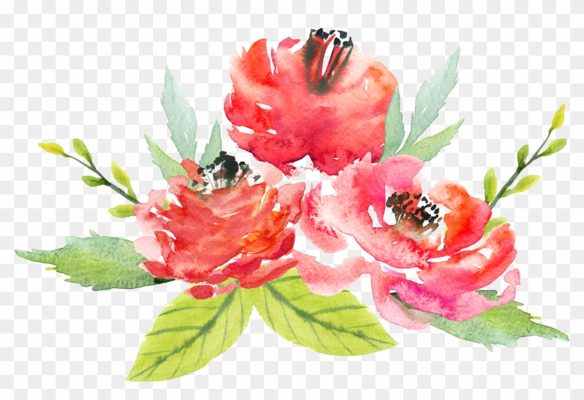 Floral Design Flower Watercolor Painting Painted Watercolor