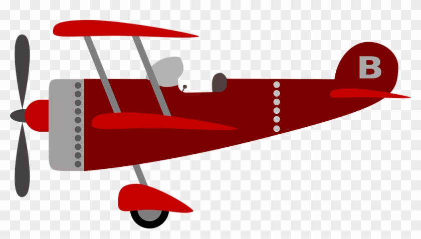 Kids Shirt Clipart 24, - Cute Vintage Airplane Png #769461