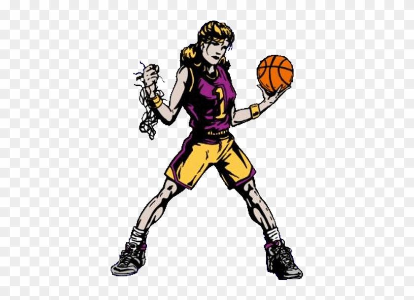 Girls Basketball High School Clipart - Bison Basketball Girls #138335