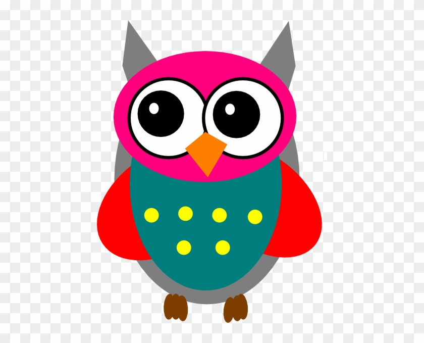 Pink And Grey Owl Clip Art At Clkercom Vector Online - Owls Vector Clip Art #138354