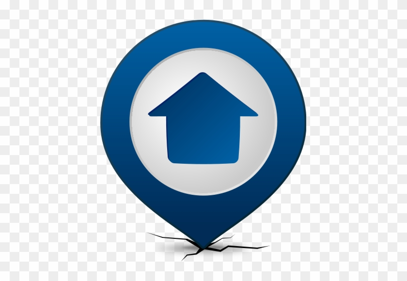 Location Map Pin Home Navy Blue - Florida Gulf Coast University #138438