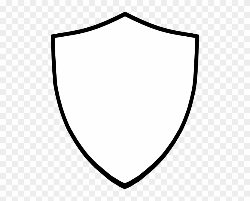 Shield Clip Art Black And White Png - Shield Vector White #138499