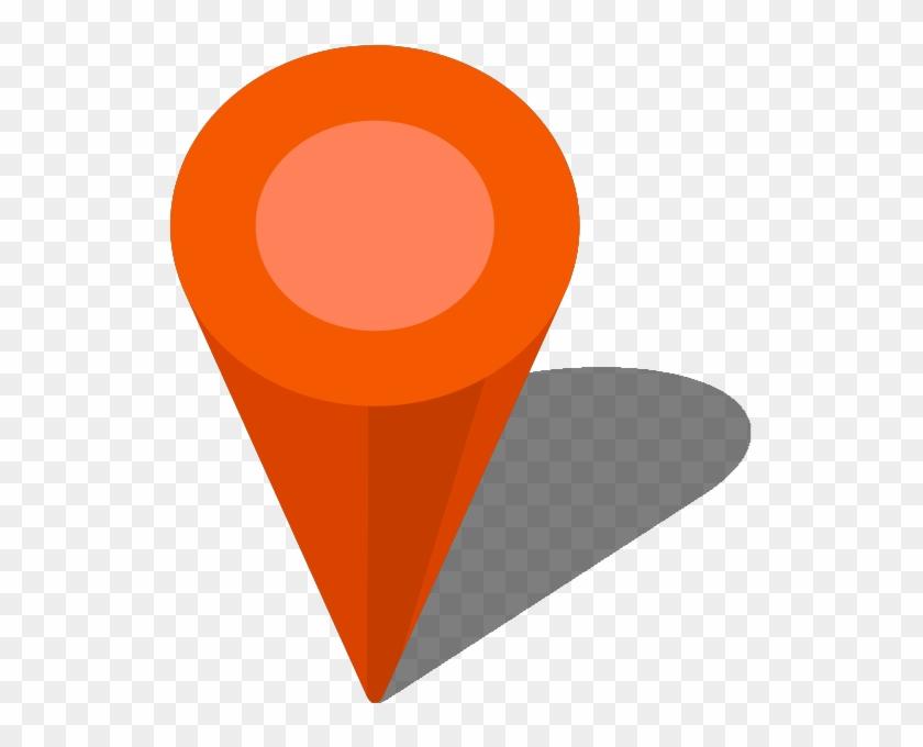 Location Map Pin Orange7 - Location Map Icon Vector #138537