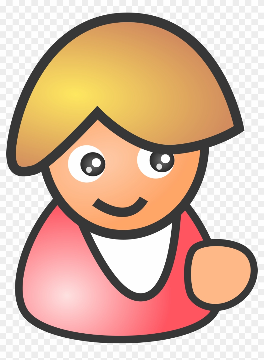 Big Image - Person Smiling Cartoon Clipart #138574