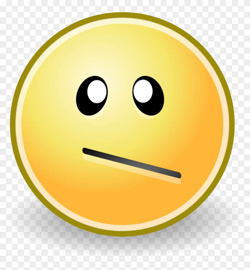 Confused Emoticon File Face Confused Svg Wikimediamons - Confused Face #138651