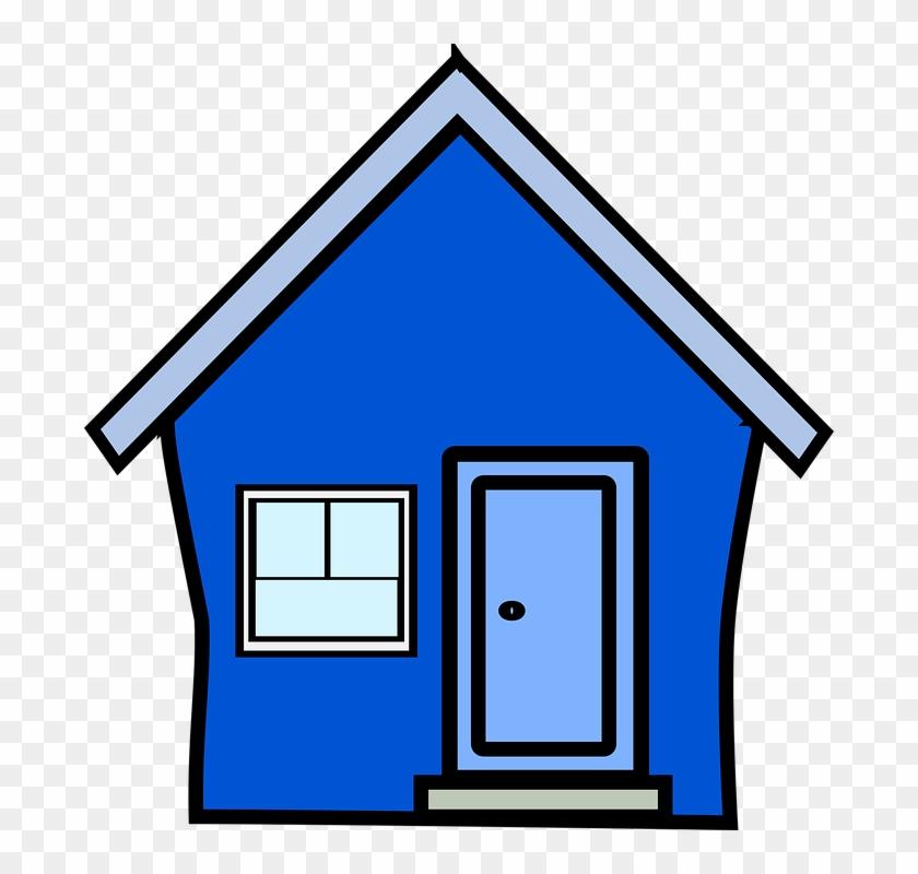 Clip Art Blue House #138731